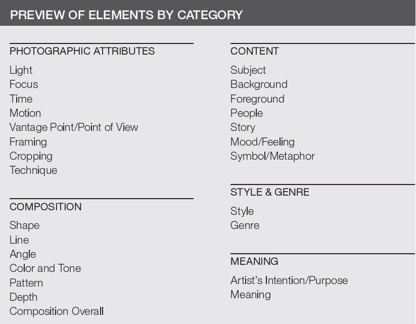 Article | Elements of Photography